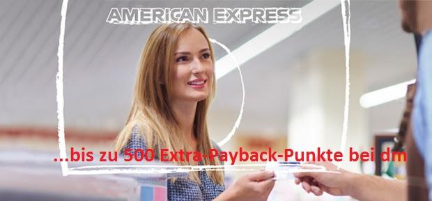 Payback AmEx: 500 Extra-Punkte bei dm – im Laden und online
