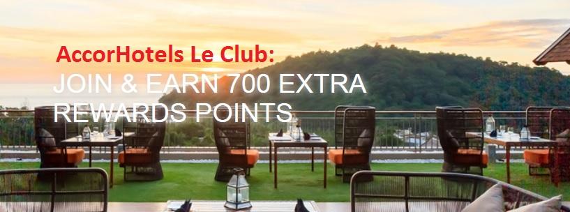 AccorHotels Le Club: 700 Punkte geschenkt!