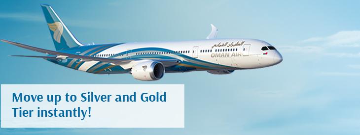 Oman Air Sindbad Gewinnspiel: Gold und Silver Status