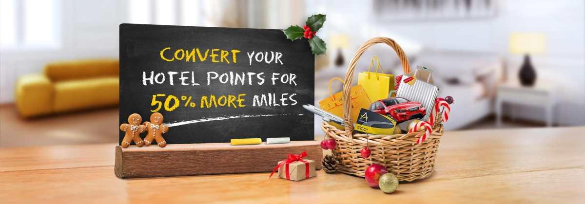 Asia Miles: 50 % Bonus bei Transfer von Hotel-Punkten
