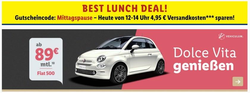 Krass Das Lidl Auto Fiat 500 vehiculum auto leasing vermietung halle erfurt berlin