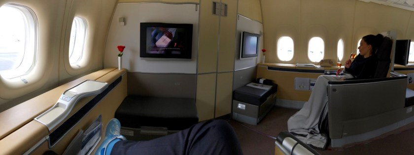 lufthansa b747 first class lh f lh456 frankfurt los angeles fra lax boeing 747 queen of the skies panorama kabine