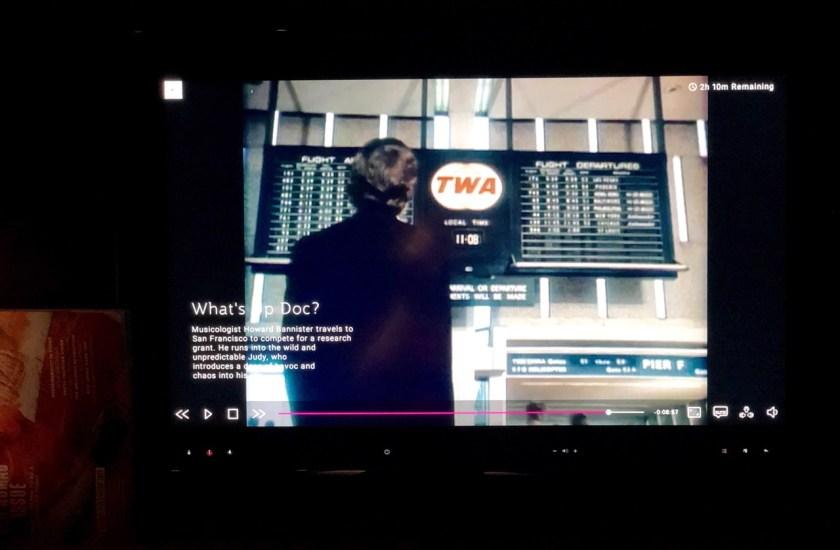 qatar airways first class airbus a380 doh doha fra frankfurt qr67 onboard bar TWA whats up doc?