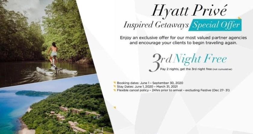 hyatt privé promotion dritte nacht kostenfrei hyatt prive third night free promo