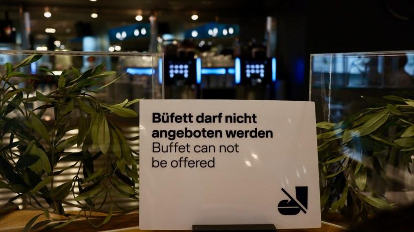 lufthansa business senator lounge muc münchen ftl sen star alliance corona covid-19 büffett