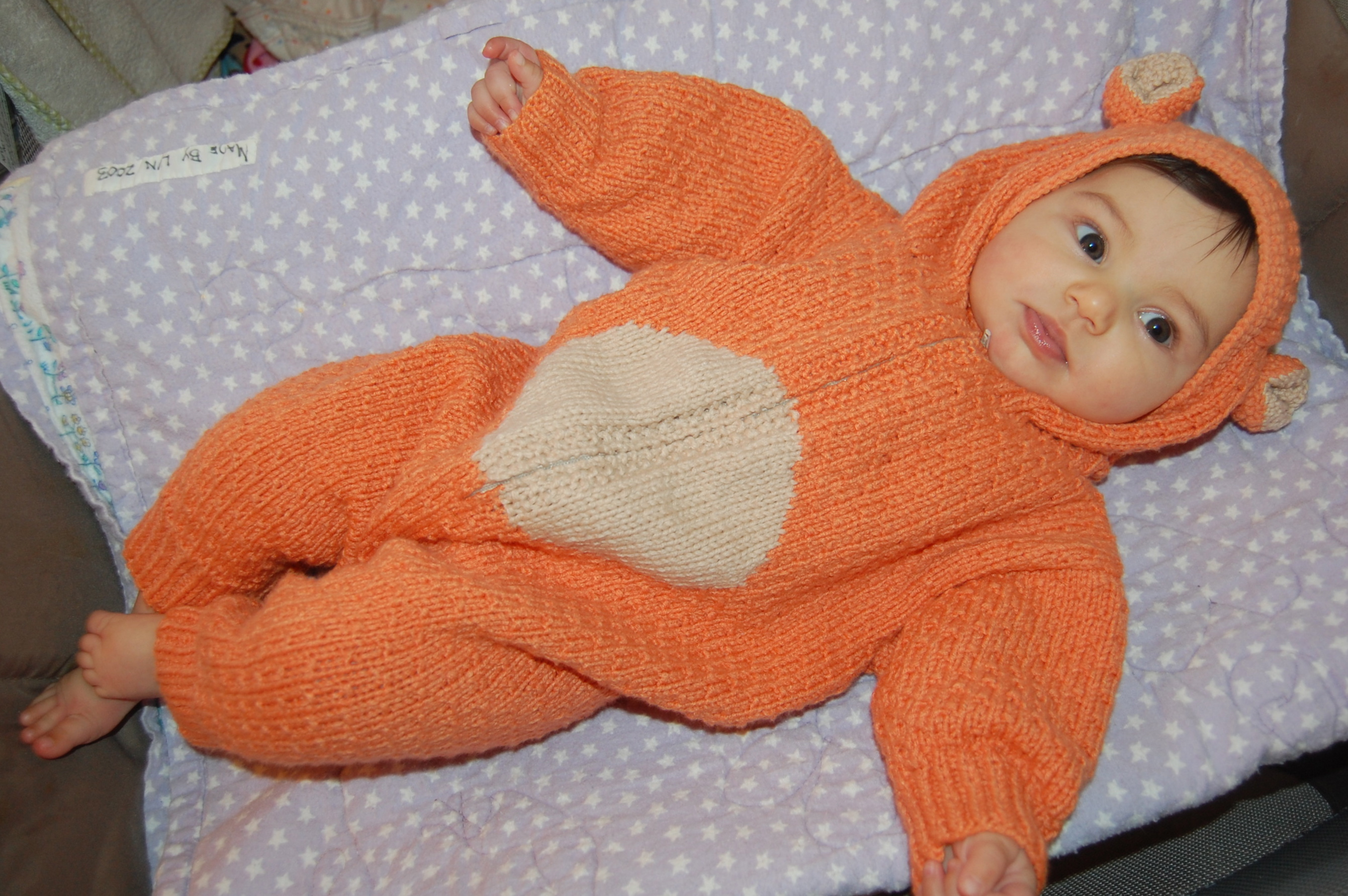 knitted bear suit