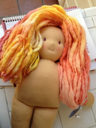 waldorf doll yarn hair
