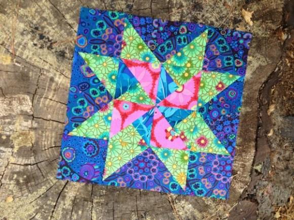 Riley Blake April mystery quilt block