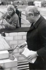 Georg Leber während seiner berühmten Ansprache.