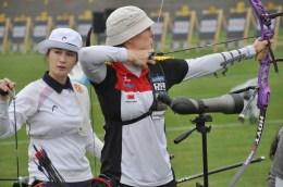 Im Achtelfinale schaltete Lisa Unruh (re.) die Olympiasiegerin von 2012 aus, Ki Bo-bae aus Südkorea.