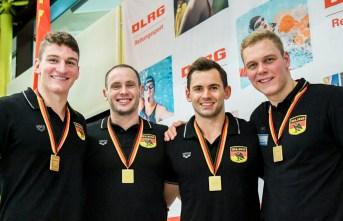 4 x 25m Manikin Relay: Joshua Perling, Danny Wieck, Fabian Thorwesten, David Laufkötter.