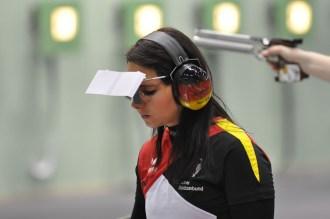 Nur aufgrund der weniger getroffenen Innenzehner verpasste Monika Karsch das Finale.