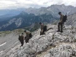 Abstieg von der Alpspitze über die Ostschulter.