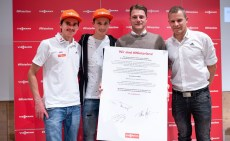 Richard Freitag, Eric Frenzel, Florian Fehr und Tobias Angerer.