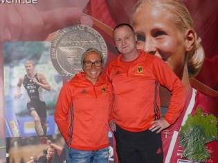 Stefan Kainath und Triathletin Anne Haug.