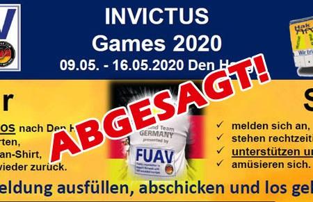 Die für Mitte Mai geplanten Invictus Games in den Haag (Niederlande) werden abgesagt.