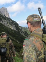 Beim Rückmarsch die Untersberg Südwand noch einmal im Blick.