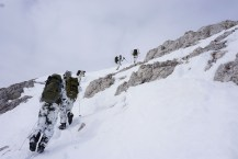 Die letzten Meter am Gipfelhang.