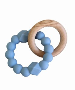 Blue teether toy