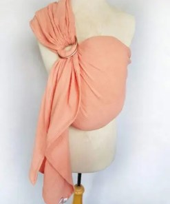 Peach ringsling on a mannequin