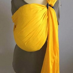 Yellow water ringsling displayed on a mannequin