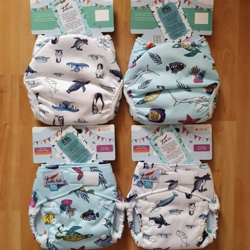 Tickle Tots nappies in new ZSL prints