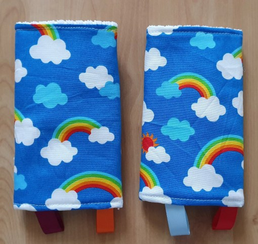Suck pads with a rainbow print