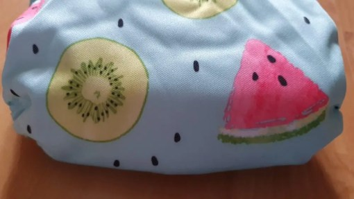 Close up of quality PUL on L&B newborn nappy