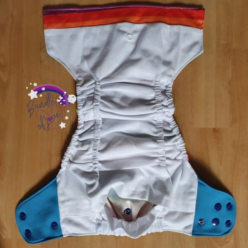 Inside view of Little Lovebum Popper and Pocket nappy