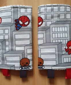 Suck pads with a Marvel character print