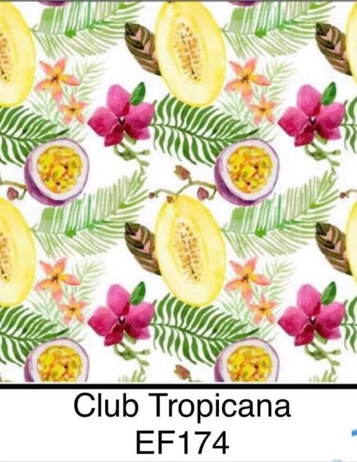 Bells Bumz Club Tropicana BTP nappy print