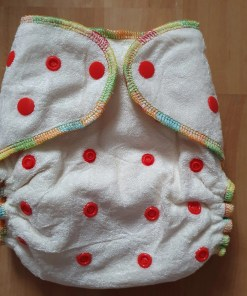 Alva baby fitted bamboo night nappy