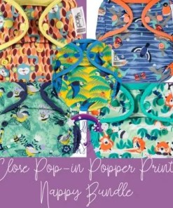 Close Pop-in Popper Prints nappy bundle