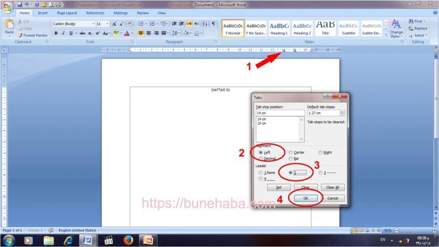 Contoh Daftar Isi Download File Cara Membuat Daftar Isi Otomatis Word