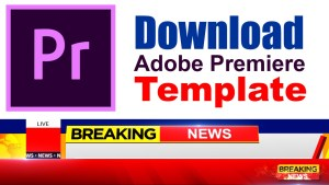 Download breaking news lower third adobe premier template free