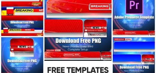 Free Breaking News lower third Template