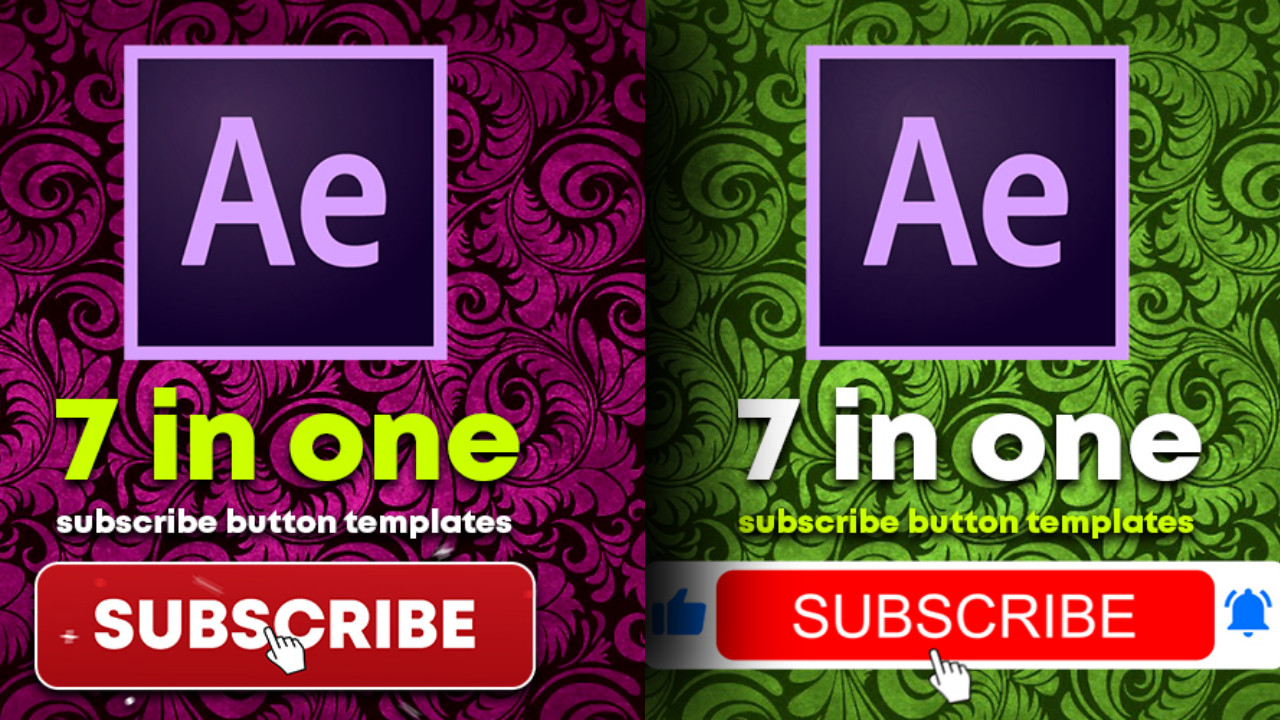 YouTube subscribe button png with bell icon adobe after effects templates download