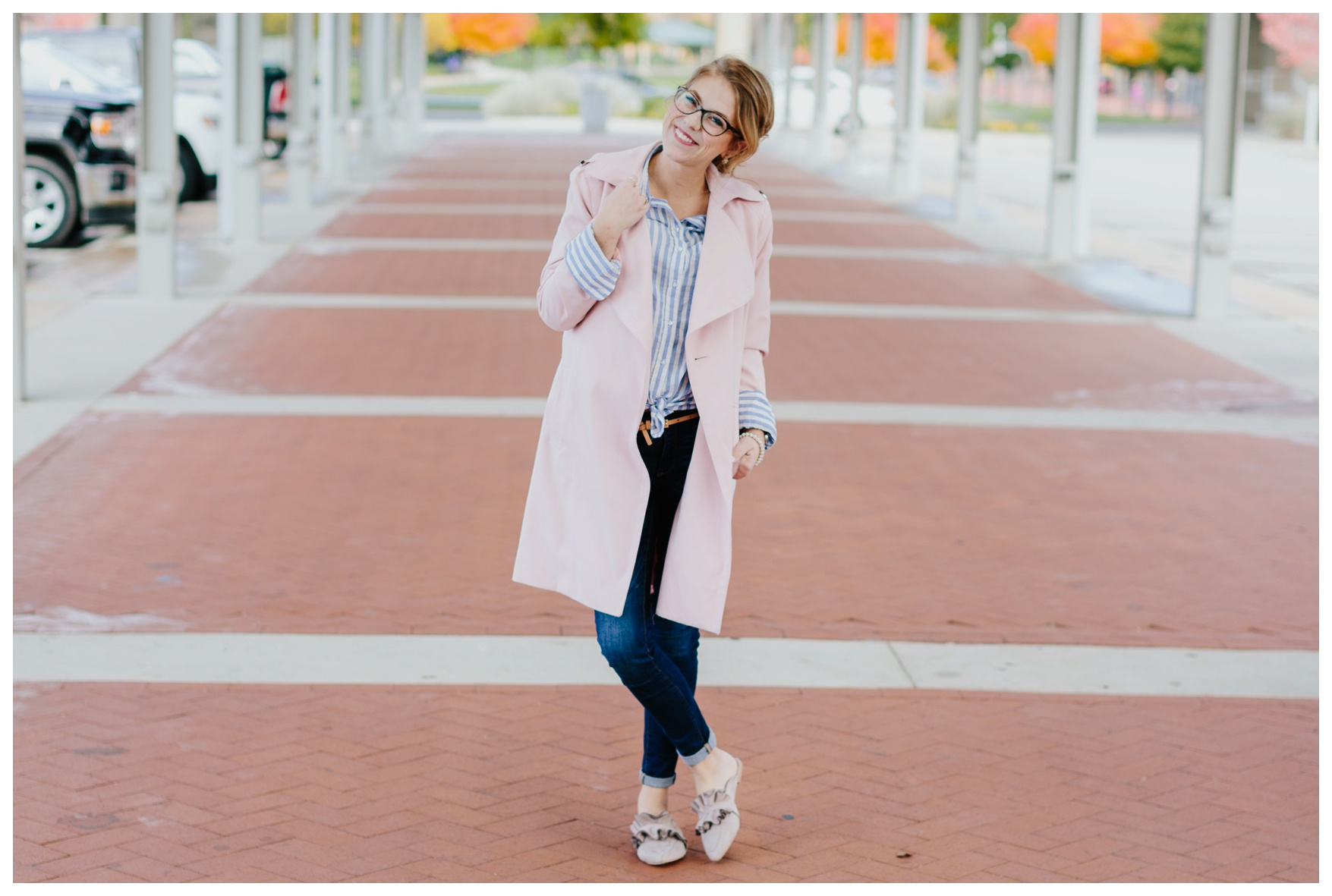pink in winter, chambray, styling coats, winter outfit, style