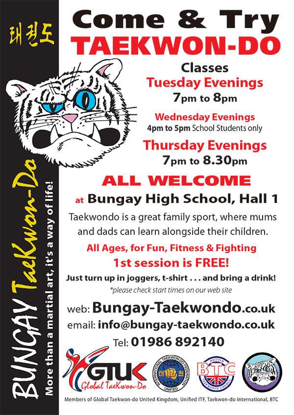 Come & Try TAEKWONDO in Bungay
