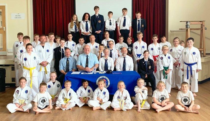 Bungay Taekwondo Students Summer belt grading 2019