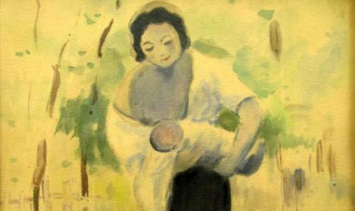 tefanLuchian - Mama-cu-copilul-detaliu