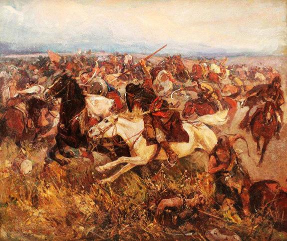 1469 Bătălia De La Lipnic -pictură De Ion Stoica Dumitrescu