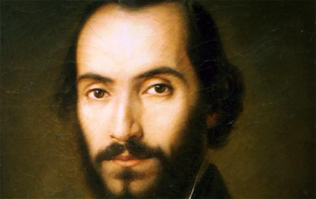 Nicolae Bălcescu Portret de Gheorghe Tattarescu - Detaliu