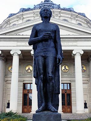 Statuia lui Mihai Eminescu la Ateneu
