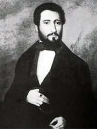 1848 Dimitrie Bratianu. Portret de Constantin Lecca