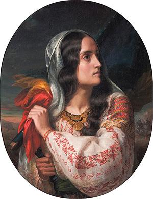 4 România revoluționară. Tablou de Constantin Daniel Rosenthal (model, Marie Rosetti)