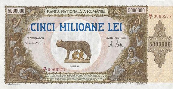 1947 Bancnota De 5 Milioane De Lei