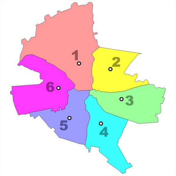 1979 Harta Sectoarelor Bucureștiului