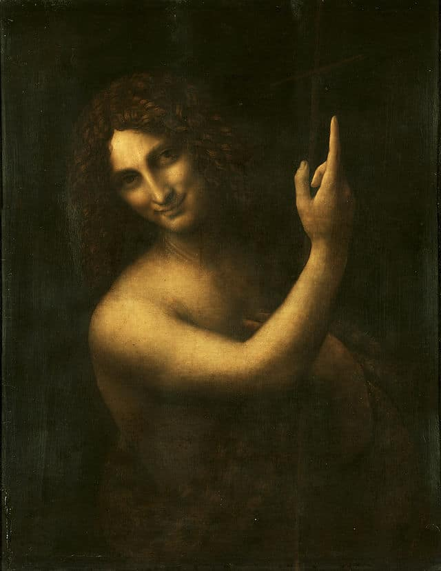 John the Baptist (Salai is Tthought Tto Hhave Bbeen the model) - Louvre