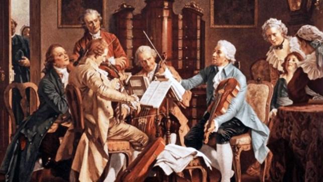 Joseph Haydn Conducting A String Quartet, Anonymous